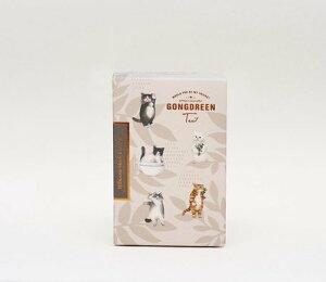 ゴンドリーン Gongdreen ネコ 紅茶 ハイビスカスティー ティーバッグ 6個入り プチギフト ギフト 猫 ねこ キャット 韓国 お茶 詰め合わせ お礼 お菓子 出産 紅茶 女性 かわいい