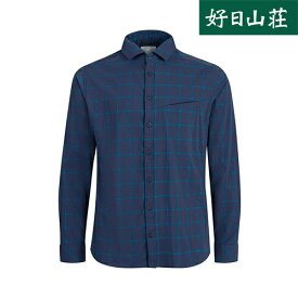 マムート MAMMUT Mountain Longsleeve Shirt Men peacoat−gentian1015-00351〔20SS〕【送料無料】 登山 アウトドア ボタンシャツ メンズ