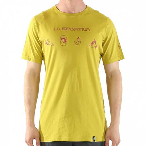 スポルティバ LA SPORTIVA Essentials T−Shirt Men / カラー Citronelle/Flame品番:H46701304