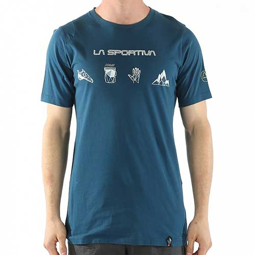 スポルティバ LA SPORTIVA Essentials T−Shirt Men / カラー Ocean/Citronelle品番:H46606701