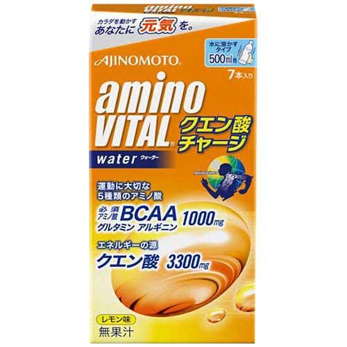【ポイント10倍】AJINOMOTO 味の素 アミノバイタルクエン酸チャージウォーター 7本 16AM7050【2019/1/9 20:00 〜 1/16 1:59】