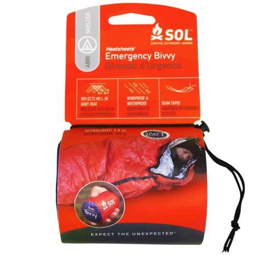 アドベンチャーメディカルキット SOL ヒートシート(R) エマージェンシーヴィヴィ 品番:12133/SOL Emergency Bivvy