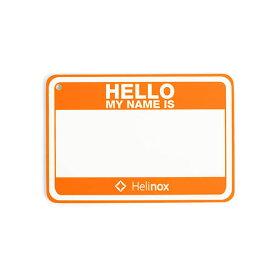 【ポイント5倍】ヘリノックス Helinox Hello my name is パッチ / ハンターオレンジ品番:19759017【2019/11/16 14:00〜11/19 11:59】