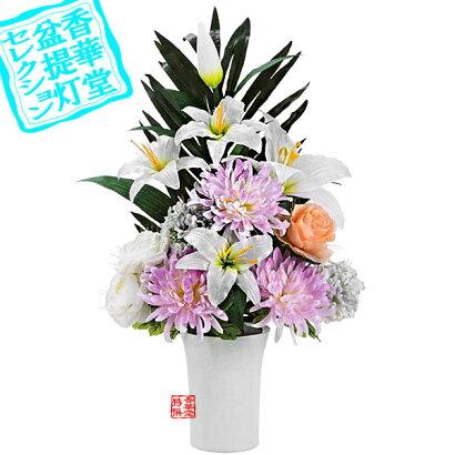 LED霊前灯供花グランドルミナス盛花■PC製/化繊■高さ約63cm{SSK}
