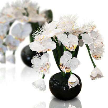 LED霊前灯供花LEDフラワー彩花(さいか)胡蝶蘭■PC製/化繊■高さ約40cm{SSK}