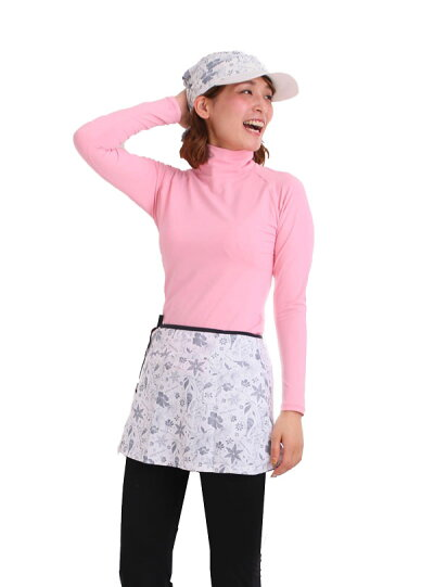 オーバースコートUVカットスカートテニスウェアゴルフウエアレディーステニススコートテニススコートホワイトブラックホワイトビューティー【送料無料】