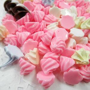 ホイップクリームパーツ 福袋(約50個入)ピンク多め 約1cm 生クリーム デコパーツ プラパーツ