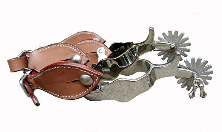 クリント・イーストウッド 夕陽のガンマン カウボーイ ブーツスパー 拍車 輪拍 本革製 金具 ステンレス製 乗馬
