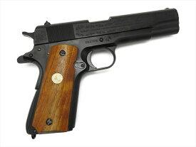 【マラソン期間中全品ポイント10倍!】Mule CAW コルト M1911A1 ヨーロッパ戦線記念 モデル ガバメント ブラック ダミーカート式 モデルガン 木製グリップ付 銃