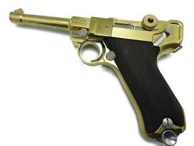 【P5倍以上!全商品対象!5/16 1:59まで】 マルシン モデルガン ルガー Luger P08 金属モデルガン 4インチ 銃 ダミーカート式 高級ウォールナット木製グリップ付 026315