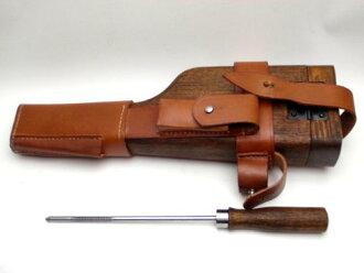德国军事毛瑟 M712 皮革皮套 C96 股票杆与木