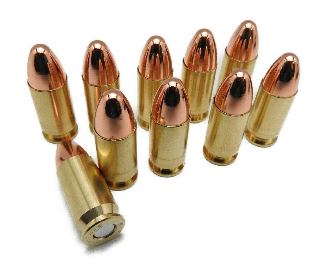 KSC M93R モデルガン ダミーカートリッジ 8発入り 9×19mm パラベラム弾 ベレッタ 銅ラウンドノーズ 銃 新品