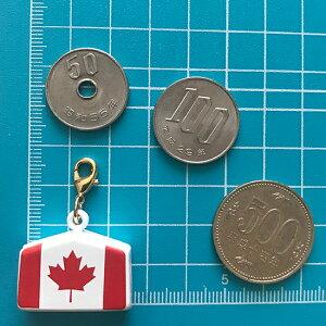 カナダ国旗絵馬鈴チャーム