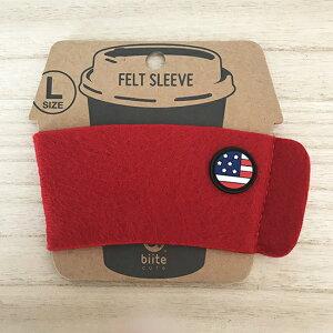 【bitte/ビッテ】ロングドリンク用スリーブ・アメリカの国旗