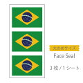 世界の国旗フェイスペイントシール<医療テープタイプ>