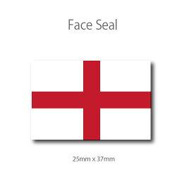 イングランドの旗 フェイスペイントシール <医療テープタイプ>
