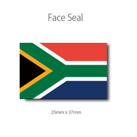 南アフリカ共和国の国旗  フェイスペイントシール <医療テープタイプ>