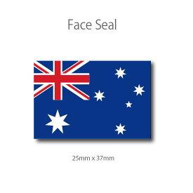 オーストラリア国旗 フェイスペイントシール <医療テープタイプ>