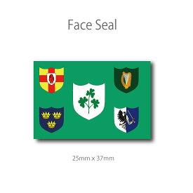 アイルランド・ラグビー代表旗 フェイスペイントシール <医療テープタイプ>