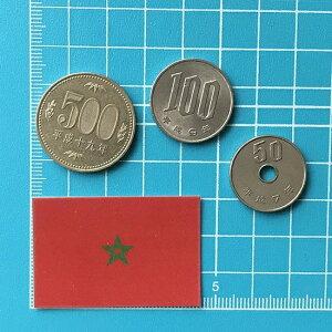 モロッコの国旗ステッカー・2S
