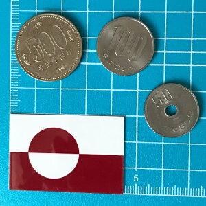 グリーンランド(2S)国旗&地域の旗ステッカー