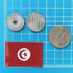 チュニジア国旗ステッカー・2S