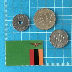 ザンビアの国旗ステッカー・2S