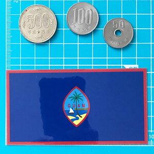 国旗ステッカー・2Sグアム(地域の旗)<スーツケースやスマホ・車にも貼れる世界の国旗シール>_kokkis