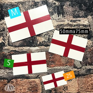 イングランド国旗&地域の旗ステッカー<スーツケースや車にも貼れる世界の国旗シール>