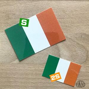 国旗ステッカー・2Sアイルランド<スーツケースや屋外にも貼れる世界の国旗シール>_kokkis
