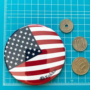 アメリカ国旗デザインのカンバッチ