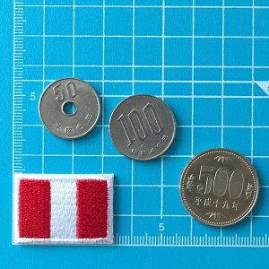 ペルーの国旗アイロンワッペン・ミニ