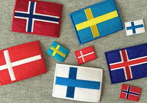 世界の国旗ワッペン・ミニ・スエーデン