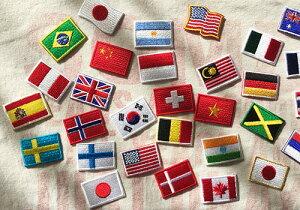 世界国旗パッチ・ミニ・ペルー