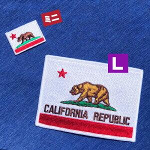 カリフォルニア州旗(L)国旗&地域の旗アイロンワッペン