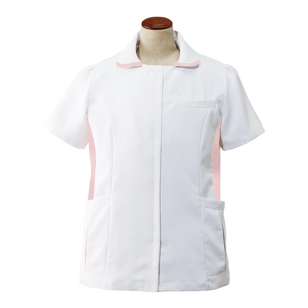 2321 ゆったり 配色ジャケット(7L〜10L)【医療 ナース 看護 白衣 女性】