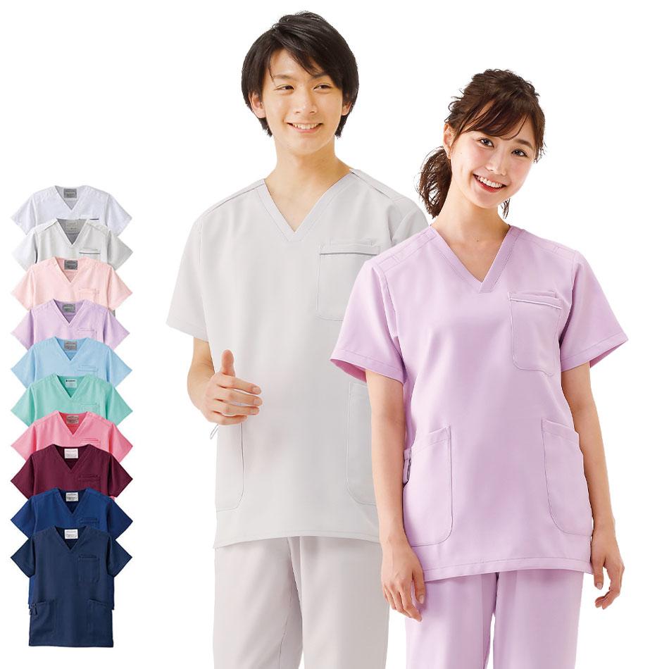 2341 エアリータッチスクラブ【医療 ナース 看護 白衣 女性 男性】