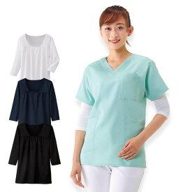 6170 吸汗速乾スクラブインナー2(7分袖)【医療 ナース 看護師 白衣 女性】