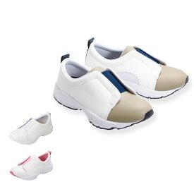 14670 定番2トーンベーシックシューズ【ナースシューズ 看護 介護 ケア 軽量 スリッポン 幅広 靴】
