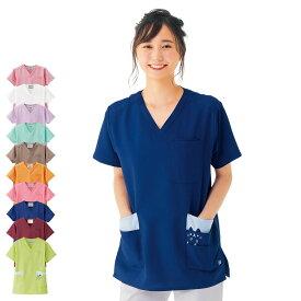 2382 カラフルアニマルスクラブ(男女兼用)【医療 ナース 看護師 白衣 レディース メンズ 女性 男性 男女兼用 かわいい】