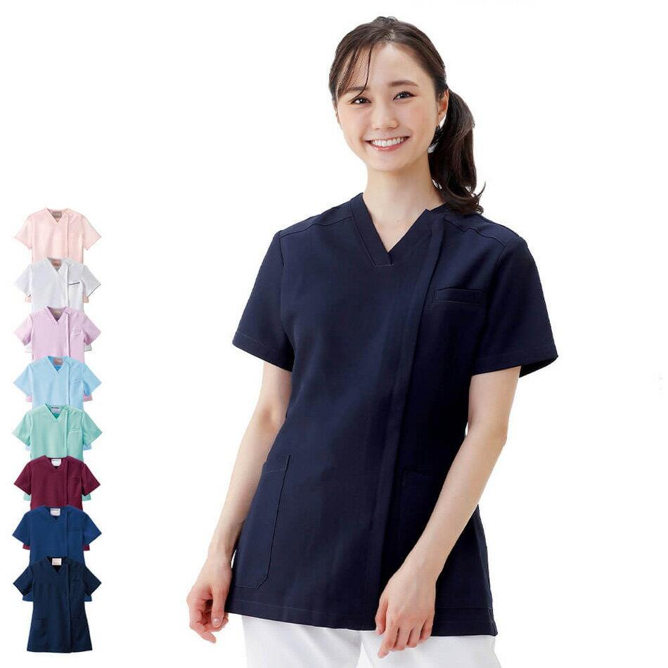 2407 エアリータッチスクラブ(オープン)【医療 ナース 看護師 白衣 女性】