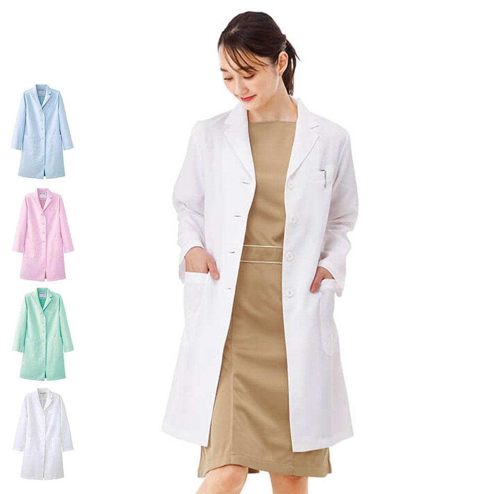 2415 デイリードクターコート(レディス/さらりタッチ)【診察衣 医療 ナース 看護師 白衣 女性 医師 薬剤師 実習衣】
