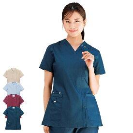 2425 デニムスクラブ(オープン)【医療 ナース 看護師 白衣 女性】