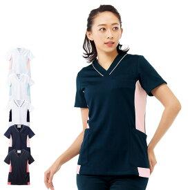 2455 配色マルチジャケット(スクラブ)【医療 ナース 看護師 白衣 女性】