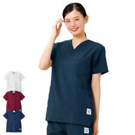 2460 グレートバディ ヘリンボーンストレッチスクラブ(Unisex)【医療 ナース 看護 白衣 女性】