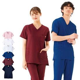 BT2201 エールスタイル スクラブ(男女兼用)【医療 ナース 看護師 白衣 レディース メンズ 女性 男性 男女兼用】
