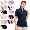 PL00011 レディースデザインポロシャツ(S-3L)【看護 介護 病院 保育士 ケア ヘルパー ユニフォーム】