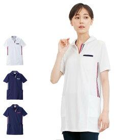 pl00077 側章ポロシャツ【看護 介護 病院 保育士 ケア ヘルパー ユニフォーム】