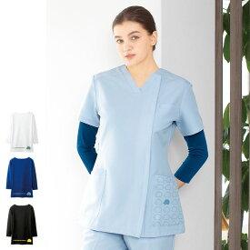 SF6229 スカンジナビアンフォレスト スクラブインナー(7分袖)【医療 ナース 看護 白衣 女性 介護 事務 ケア】