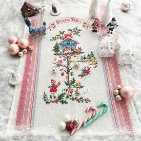 ティータオル Little Christmas house(小さなクリスマスのお家)【アイーダ】